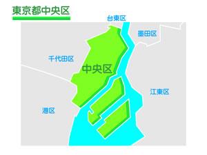 東京都中央区のイラスト地図
