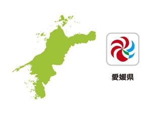 愛媛県のイラスト地図