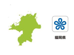 福岡県のイラスト地図