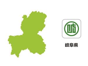 岐阜県のイラスト地図