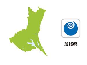 茨城県のイラスト地図