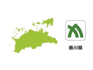 香川県のイラスト地図