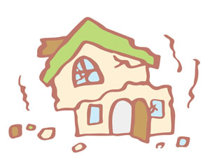 家屋と家財の震災イメージ図