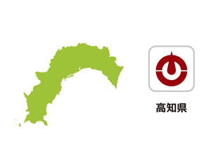 高知県のイラスト地図