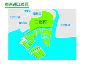 東京都江東区のイラスト地図