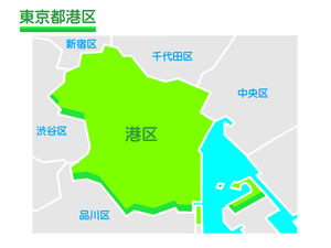 東京都港区のイラスト地図