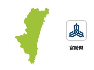 宮崎県のイラスト地図