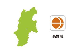 長野県のイラスト地図
