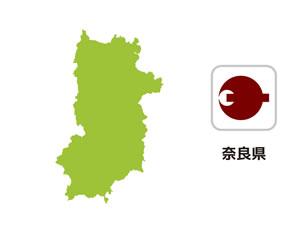 奈良県のイラスト地図