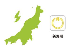 新潟県のイラスト地図
