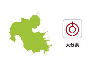 大分県のイラスト地図