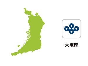 大阪府のイラスト地図