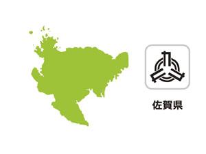 佐賀県のイラスト地図