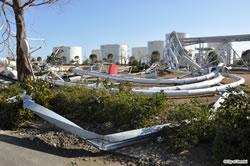 津波で壊滅的な被害を受けたガス局港工場
