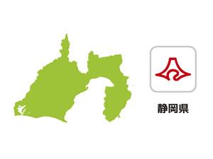 静岡県のイラスト地図