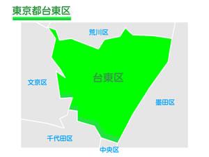 東京都台東区のイラスト地図