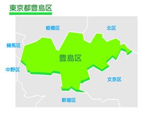 東京都豊島区のイラスト地図