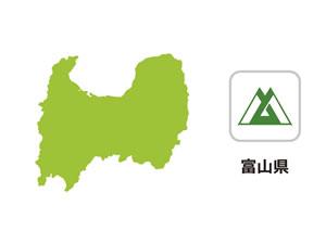富山県のイラスト地図