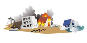 大震災のイメージ図