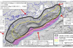 南海トラフ地震の想定震源域