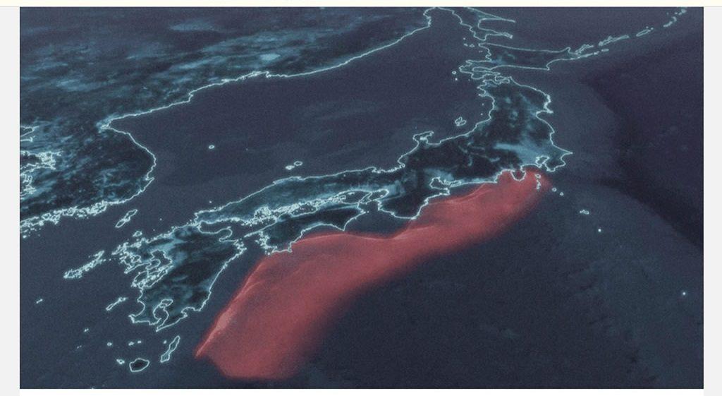 南海トラフ想定震源域のイメージ