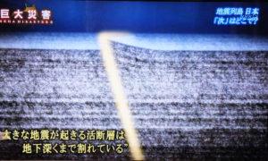 活断層が動いた後の地盤の分断イメージ