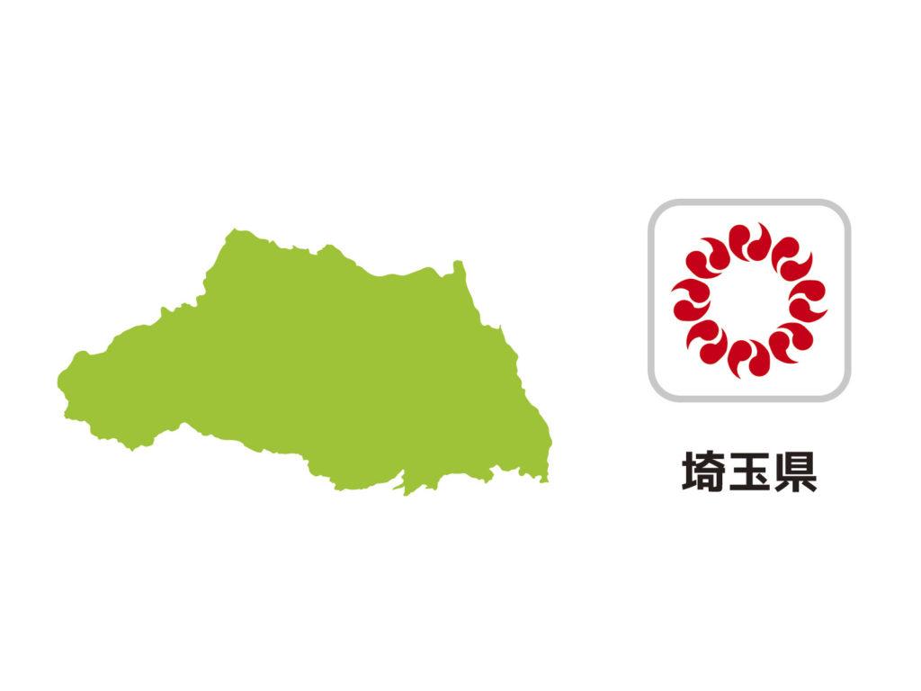 埼玉県のイラスト地図