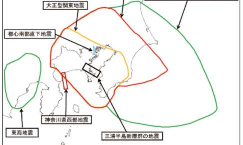 神奈川県庁資料「震源断層モデルの位置図」