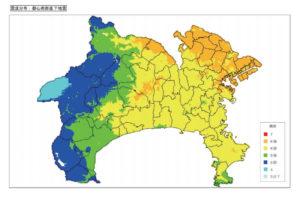神奈川県庁資料「都心南部直下地震による震度分布」