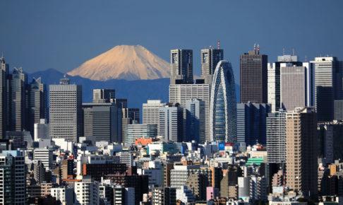 富士山と都心の街並み