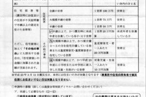 仙台市青葉区「り災証明書取得者への諸支援制度」