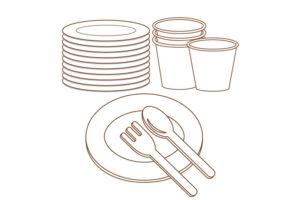 紙食器類のイメージ