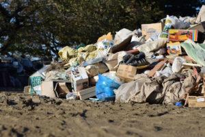 災害ゴミの後片付けイメージ