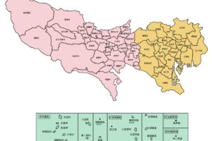 島しょ部を含む東京都地図
