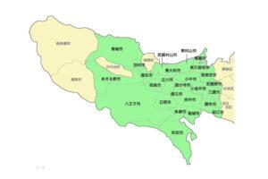 三多摩地区市町村地図