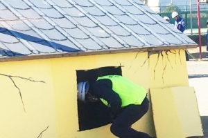 倒壊家屋救出訓練のイメージ