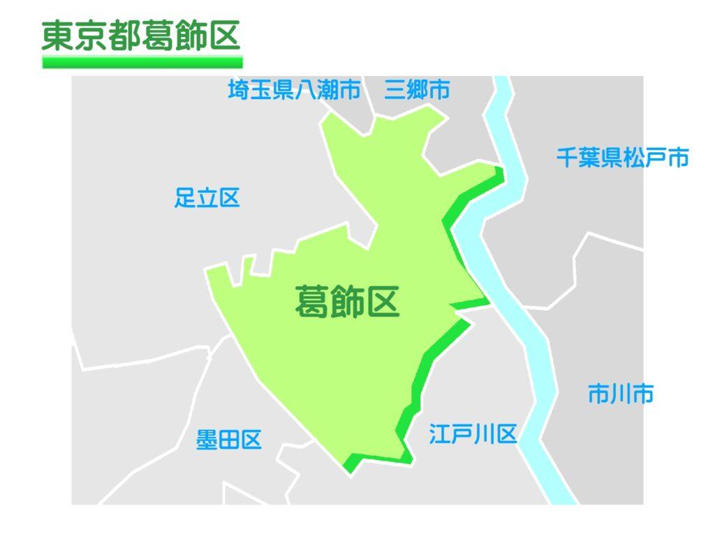 東京都葛飾区のイラスト地図