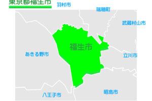 東京都福生市のイラスト地図