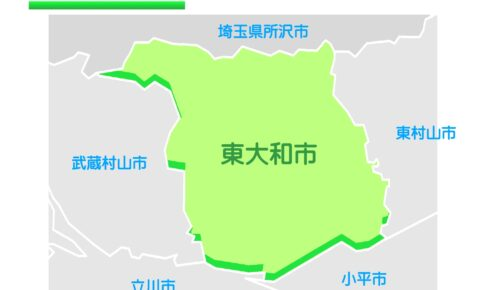 東京都東大和市のイラスト地図