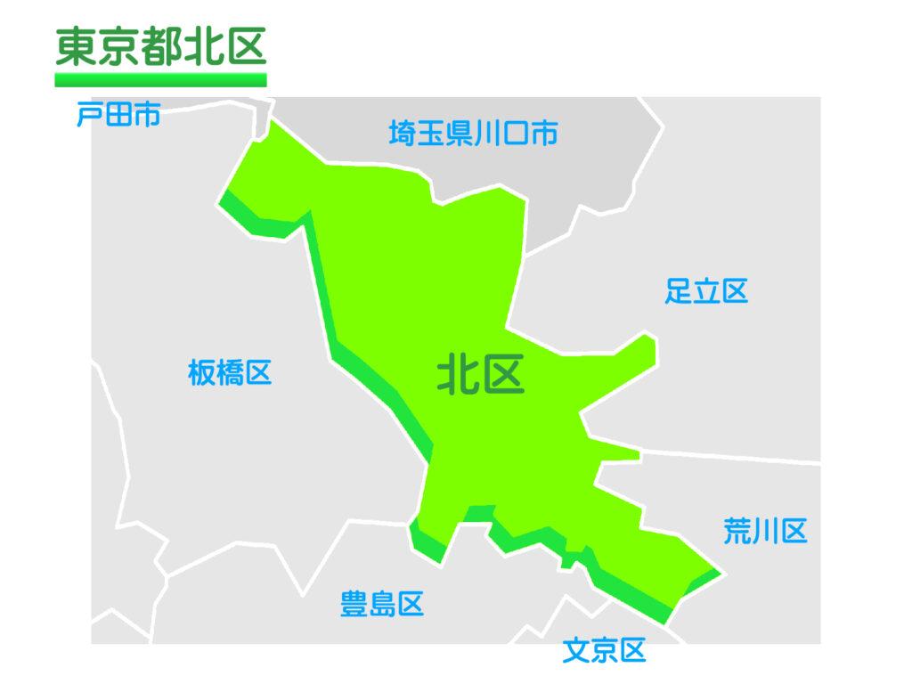 東京都北区のイラスト地図