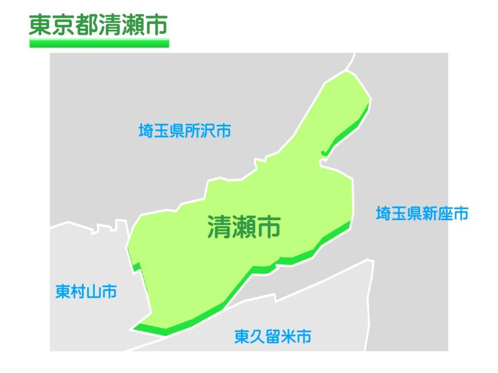 東京都清瀬市のイラスト地図