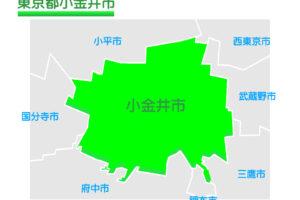 東京都小金井市のイラスト地図