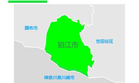 東京都狛江市のイラスト地図