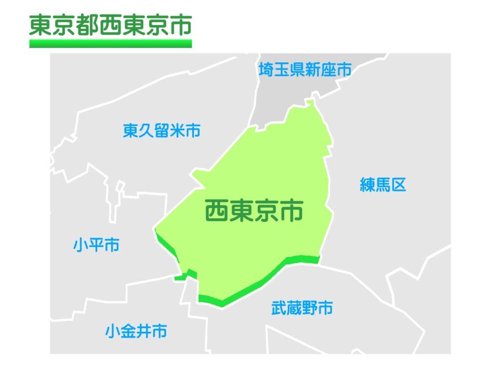 東京都西東京市のイラスト地図