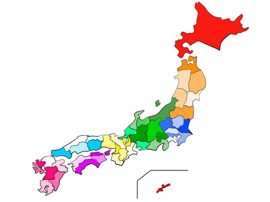 全国47都道府県地図のイメージ