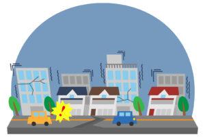 都市部での地震のイメージ